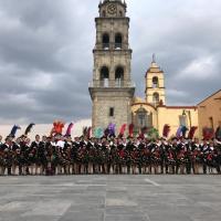 Caballero Yonca lleva la magia del carnaval a las familias de Ixtenco