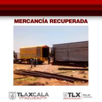 Recuperan mercancía robada en predio de San Miguel del Milagro, Nativitas