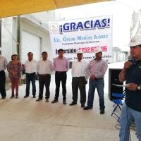Emotiva entrega de obra de impacto en calle Hidalgo de Nativitas