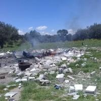 Explosión de polvorín causa muerte de mujer y  niña de 4 años en Xaloztoc