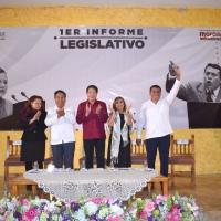 Rubén Terán rinde Primer Informe Legislativo ante abarrotado recinto