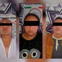 Policía de Papalotla detiene a peligrosa banda armada