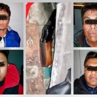 Policía de Ixtenco detiene a cuatro sujetos por portación ilegal de arma de fuego