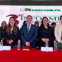 Víctor Hugo Sánchez destaca más de 17 mdp en obras durante Tercer Informe