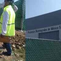Inspeccionan fábrica dedicada a la harina de pescado en Papalotla
