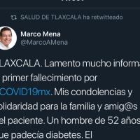 Tlaxcala registra la primera muerte por COVID-19