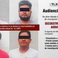 Vinculan a proceso a cuatro sujetos por secuestro exprés en Zacatelco