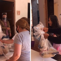 En Tecopilco, entregan más de tres mil despensas