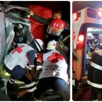 Vuelca y queda prensado  en su camioneta al circular en la Apizaco – Tlaxcala