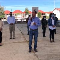 Víctor Hugo Sánchez entrega segunda techumbre en Nanacamilpa