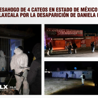 Hallan indicios de Daniela durante 4 cateos aplicados por PGJE y Fiscalía Mexiquense