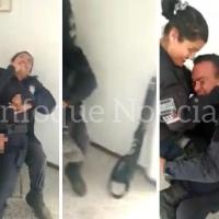 """Exhiben a policías """"cariñosos"""" en comandancia de Tepetitla"""