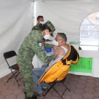 Más de mil adultos mayores de Xaltocan fueron vacunados contra Covid19